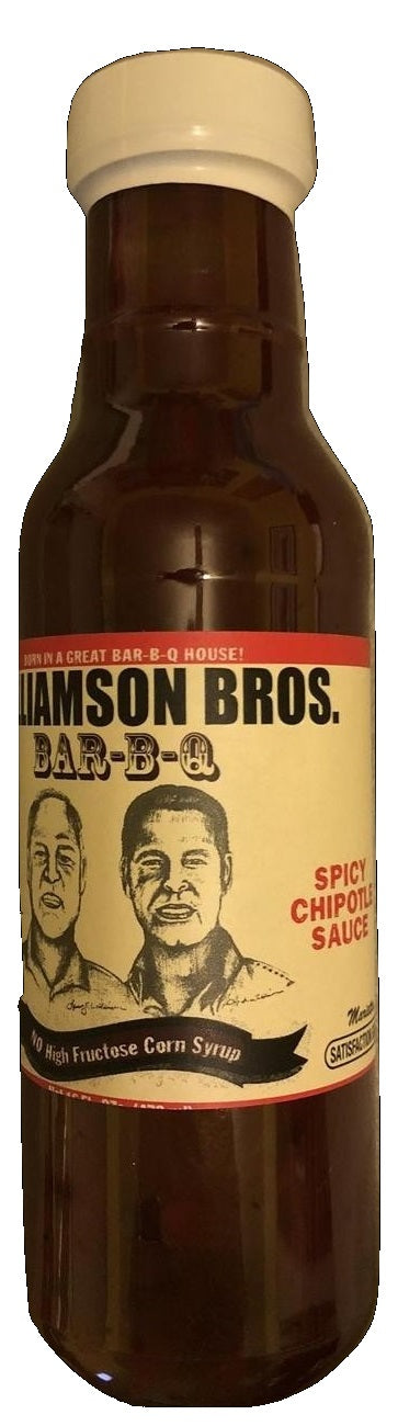Williamson Bros. Spicy Chipotle BBQ Sauce 12 oz, 6-pack
