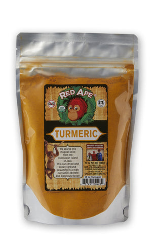 Red Ape Cinnamon Organic Ground Turmeric, 10 oz Resealable Bag - Snazzy Gourmet