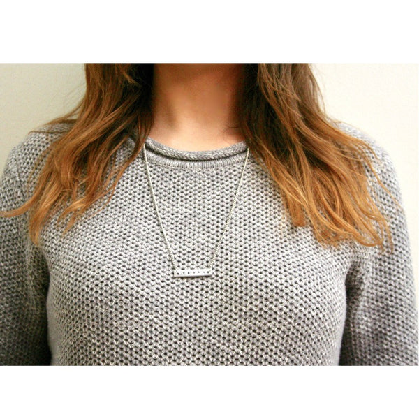 Vegan Bar Necklace