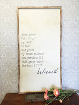 Amazing Grace - Framed Wood Sign