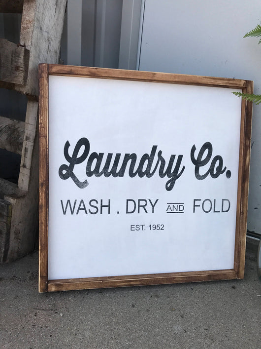 Laundry Co. - Wood Frame Sign