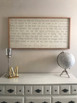 May You Stay Forever Young - Framed Wood Sign
