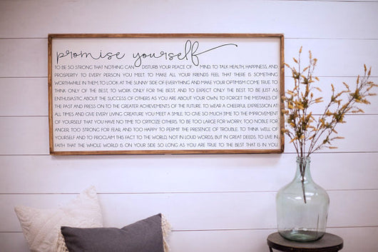 Promise Yourself - Framed Wood Sign
