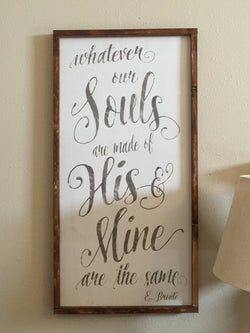 E. Bronte Quote - Framed Wood Sign