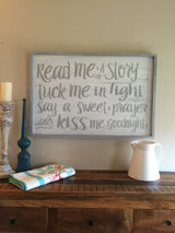 Read Me A Story - Framed Wood Sign