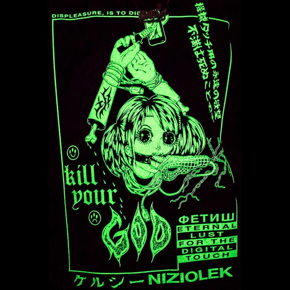 Long Sleeve - KILL YOUR GOD X KELSEY NIZIOLEK: DIGITAL TOUCH GLOW IN THE DARK & REFLECTIVE L/S SHIRT