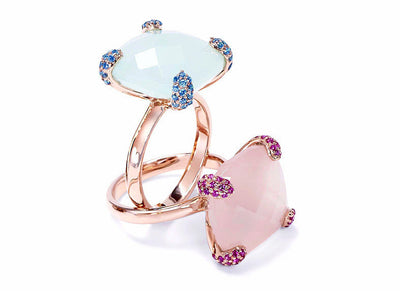 Ring CARRIE Aqua Chalcedon