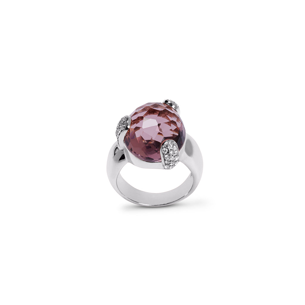 Ring FAYE Plum Quarz