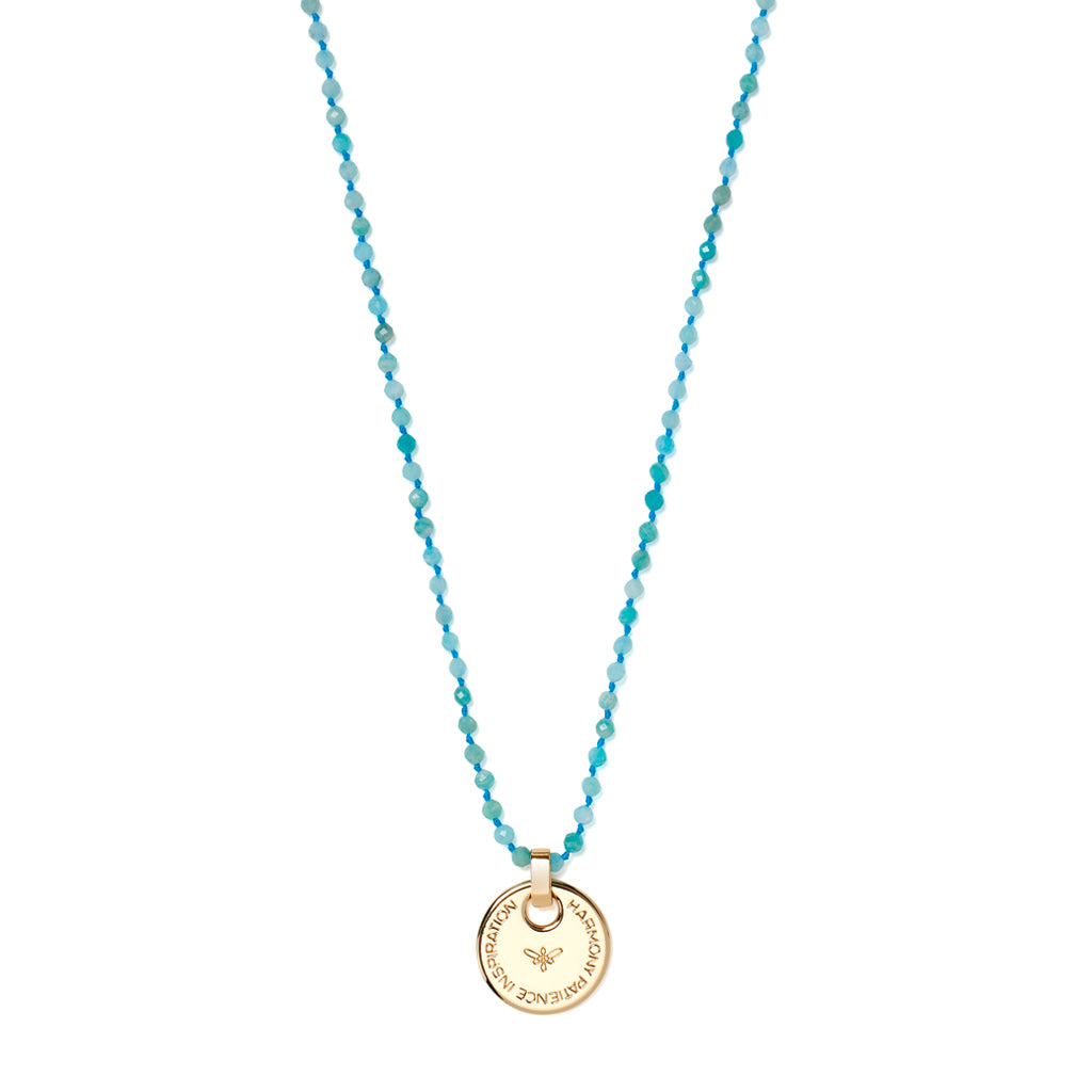 BELIEVE Necklace HARMONY, Amazonit