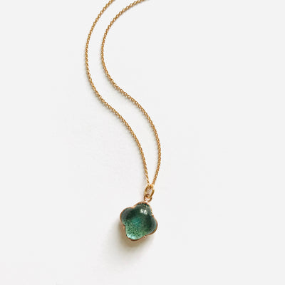 CLEIA MINI Necklace roségold, Aquamarin Quarz