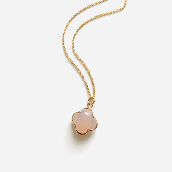 CLEIA MINI Necklace roségold, Rosenquarz
