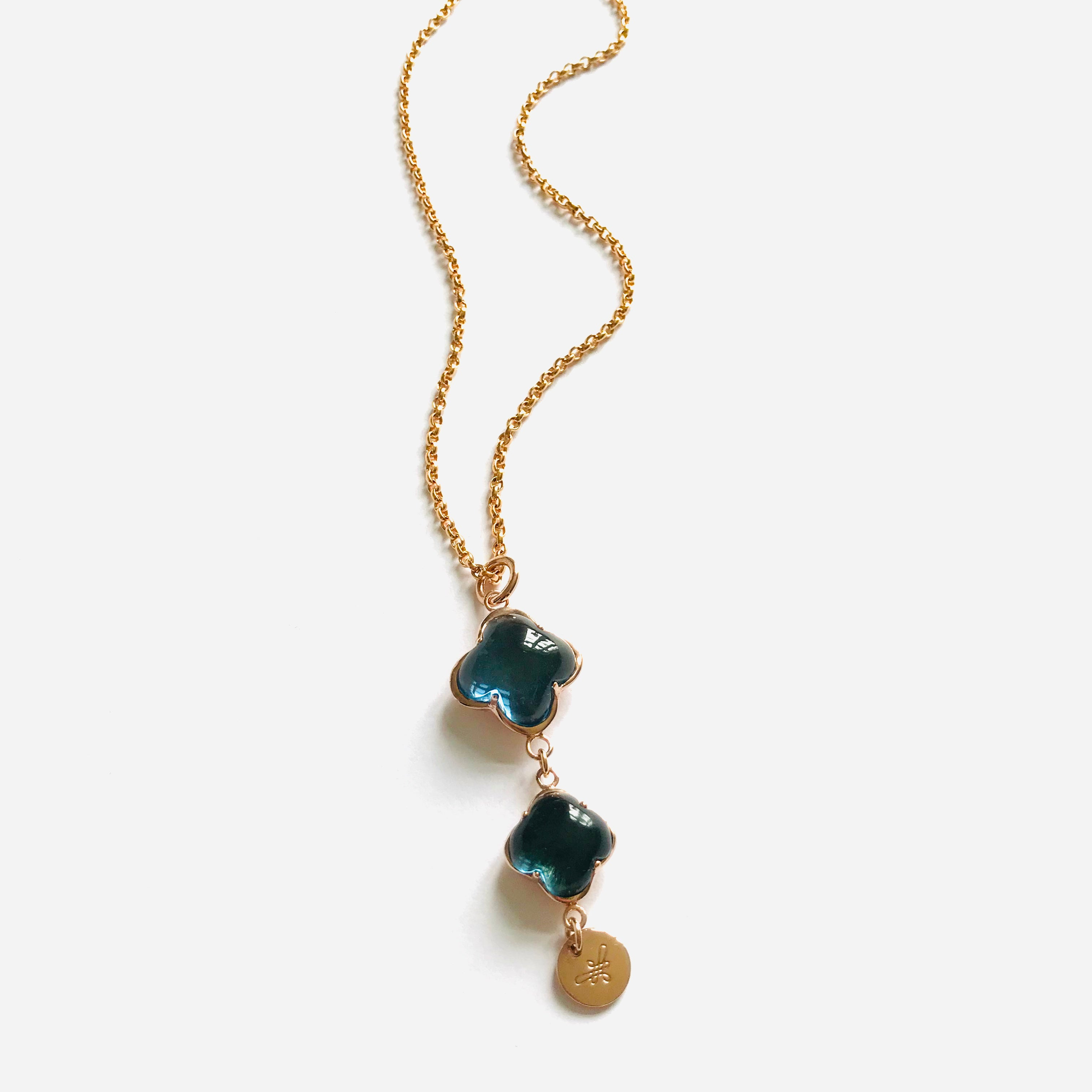 CLEIA LONG Necklace roségold, blue