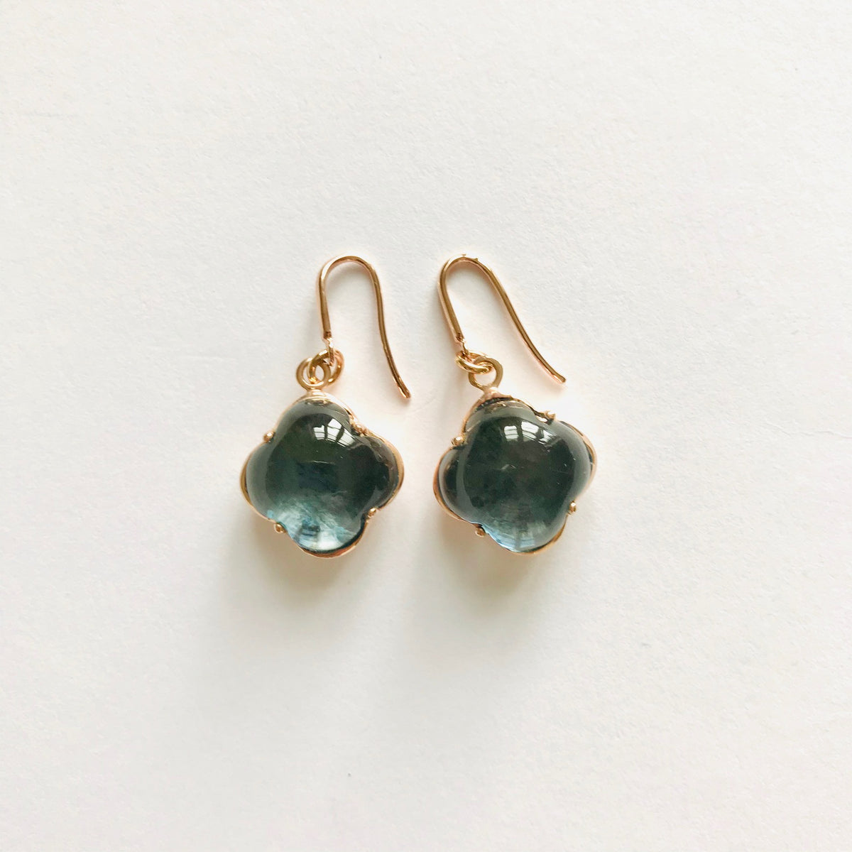 CLEIA Earrings roségold, Skyblue Quarz