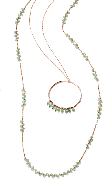 PIA Long Necklace Aventurin