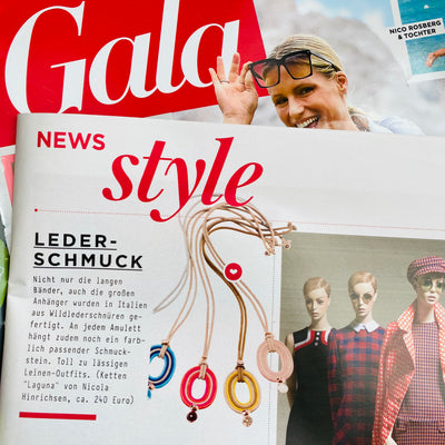 LAGUNA Necklace roségold, grey/rosé - Gala Magazin