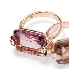 Ring MILA Plum Quarz