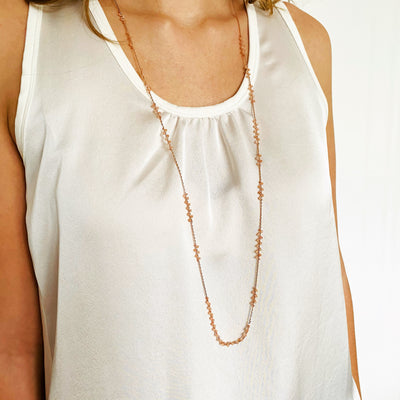 PIA Long Necklace Sunstone