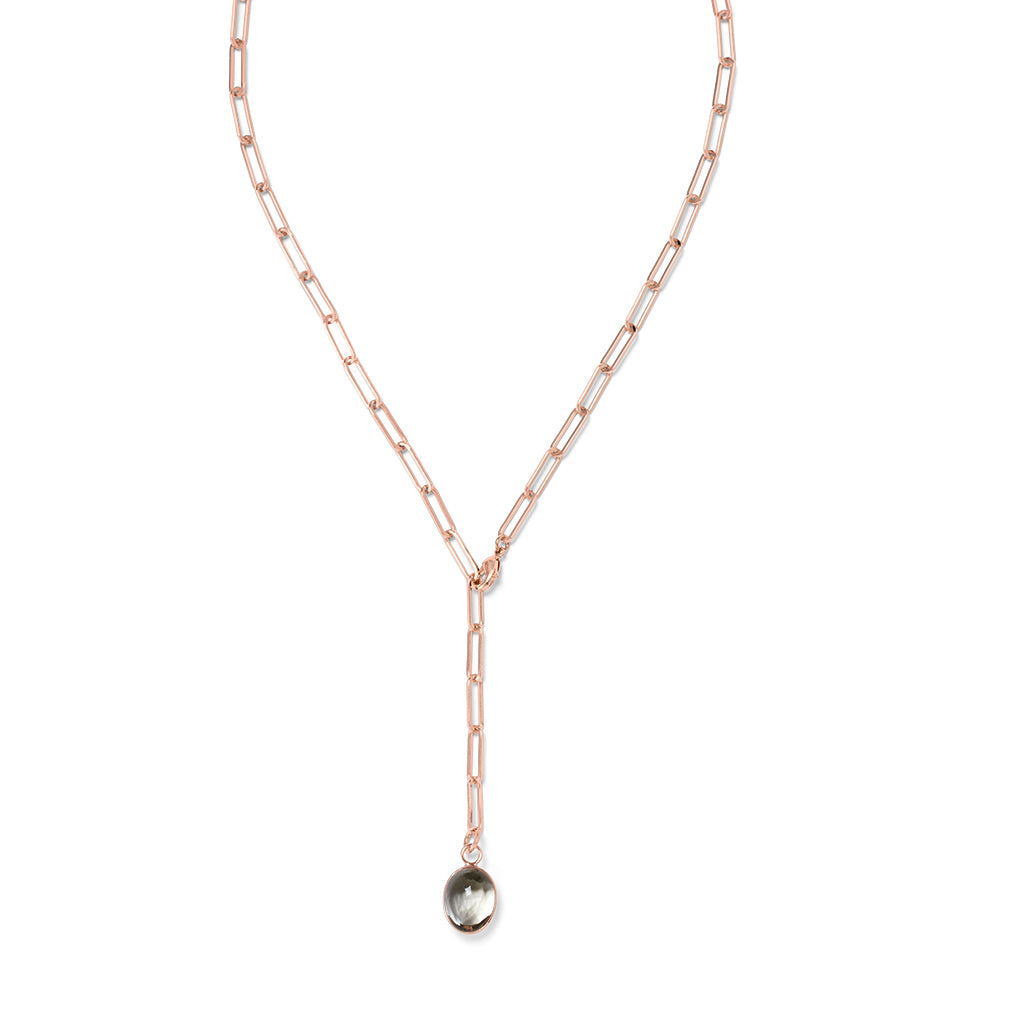 YANA Necklace Grey Quarz