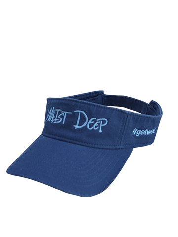 Visor / Classic Fit / Waist Deep Logo / Navy / Cool Blue