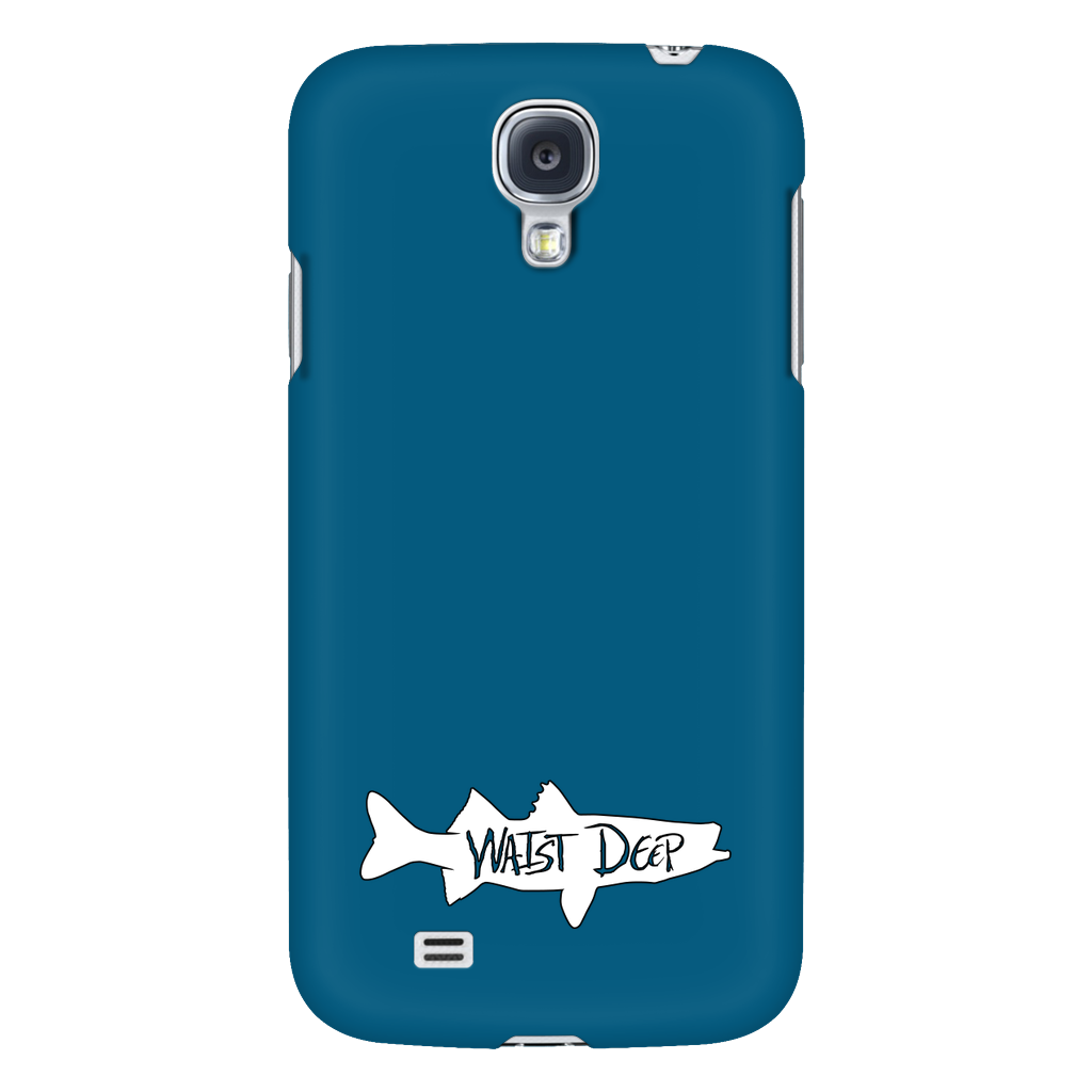 fdf03f21f6320 Phone Case   Solid Snook Design   White   Deep Blue Cover – Waist Deep