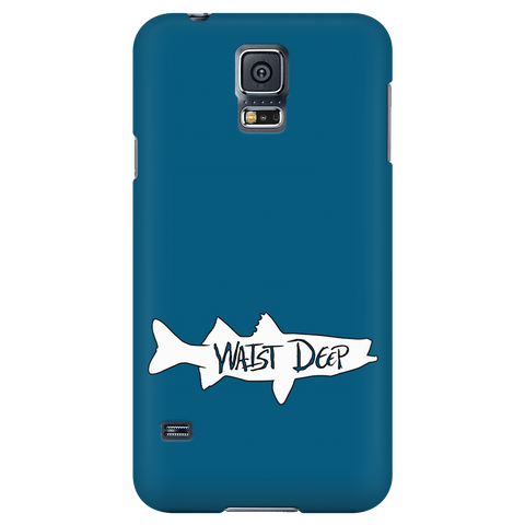 Phone Case / Solid Snook Design / White / Deep Blue Cover