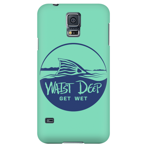 Phone Case / Redfish Get Wet Design / Navy / Sea Foam Cover