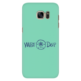 Phone Case / Sand Dollar Design / Navy / Sea Foam Cover