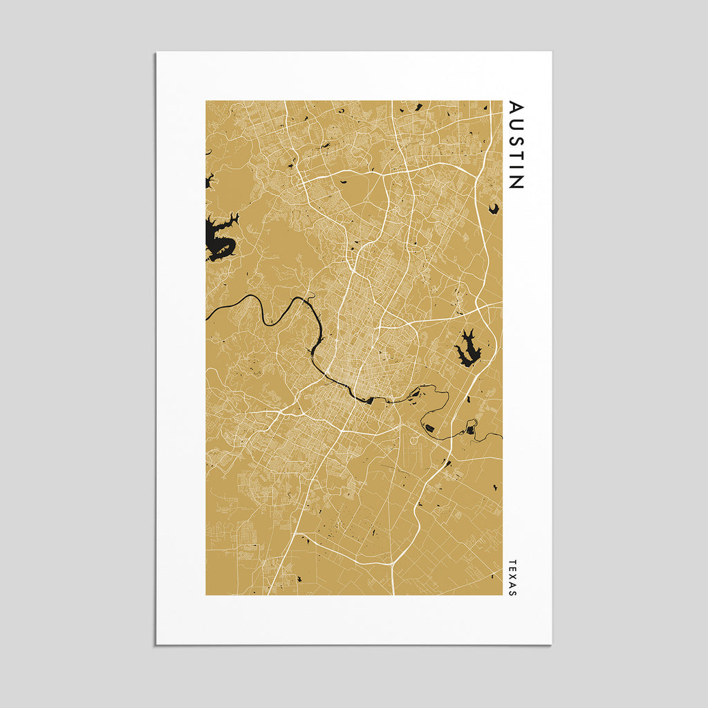 Austin, Texas _ City Map Print - Style 2