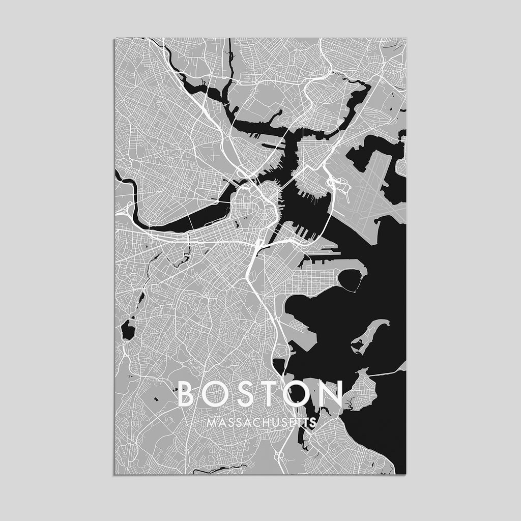 Boston, Massachusetts _ City Map Print - Style 3