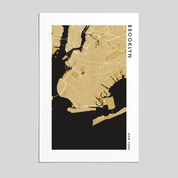 Brooklyn, New York  _  City Map Print - Style 2