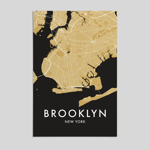 Brooklyn, New York  _  City Map Print - Style 3
