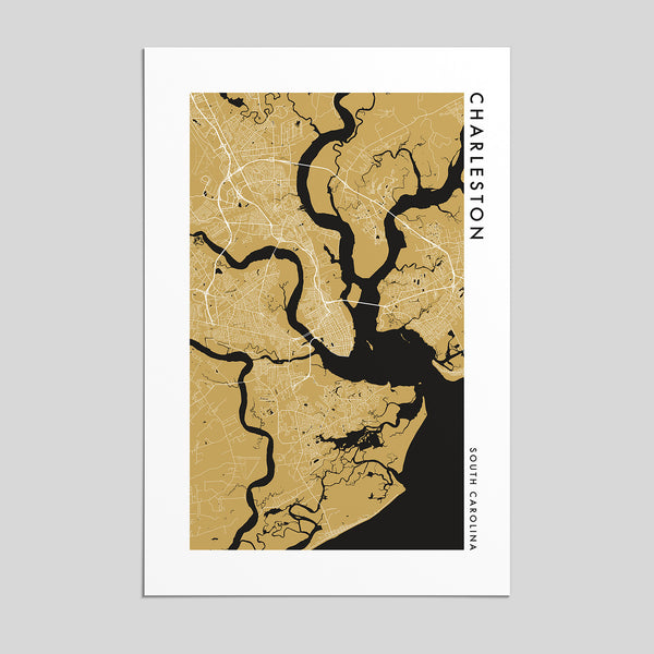 Charleston, South Carolina _ City Map Print - Style 2