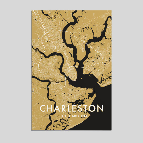 Charleston, South Carolina _ City Map Print - Style 3