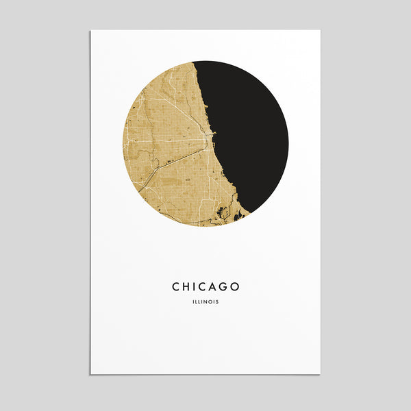 Chicago, Illinois _ City Map Print