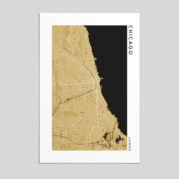 Chicago, Illinois _ City Map Print - Style 2