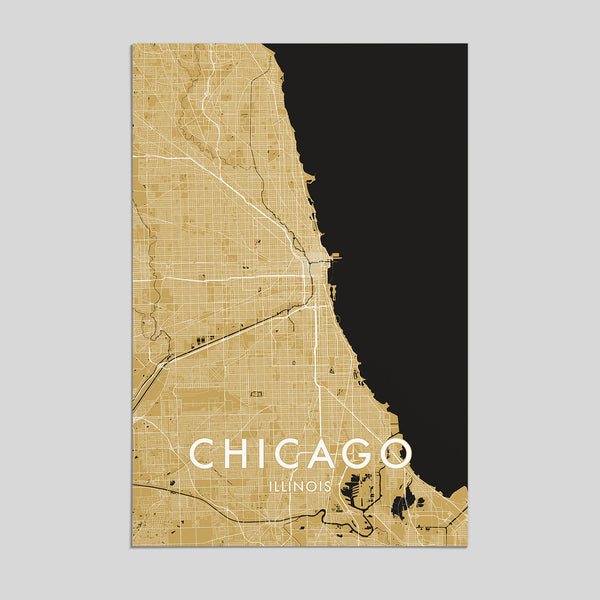 Chicago, Illinois _ City Map Print - Style 3