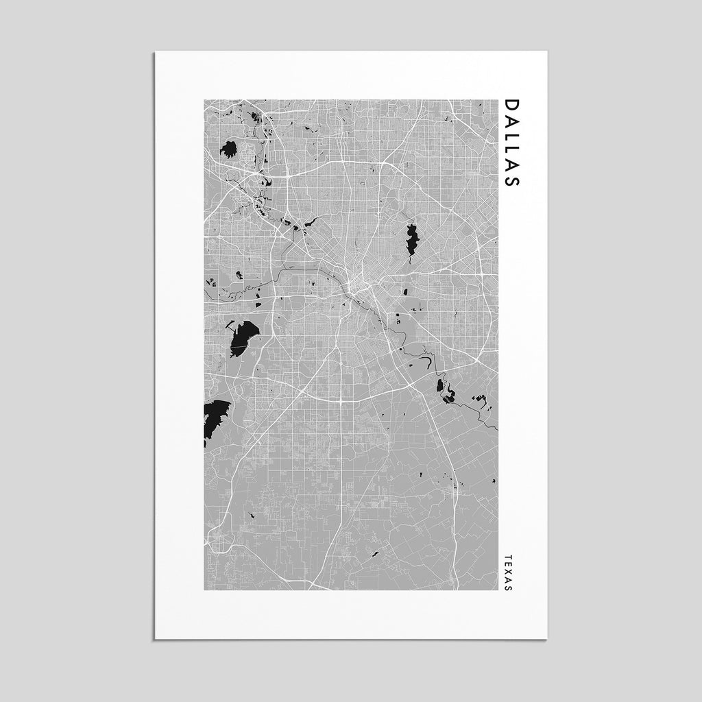 Dallas, Texas _ City Map Print - Style 2