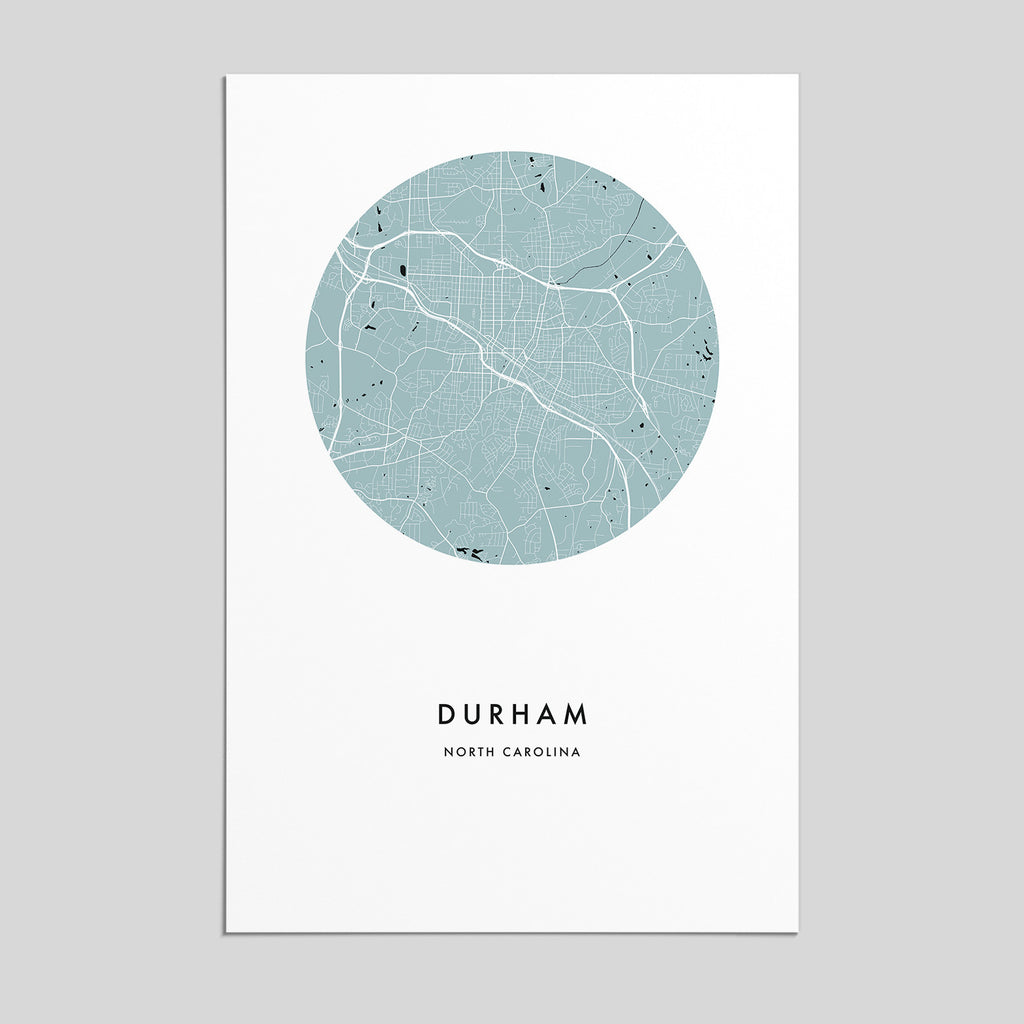 Durham, North Carolina _ City Map Print