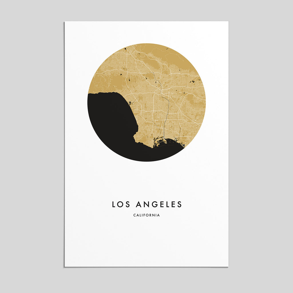 Los Angeles, California  _  City Map Print