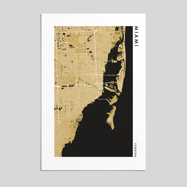 Miami, Florida _ City Map Print - Style 2