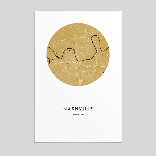 Nashville, Tennessee _ City Map Print