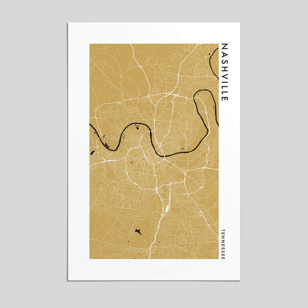 Nashville, Tennessee _ City Map Print - Style 2
