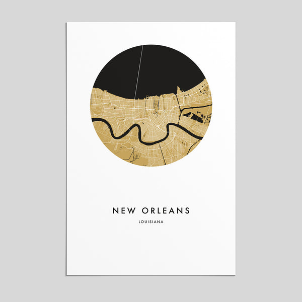 New Orleans, Louisiana _ City Map Print
