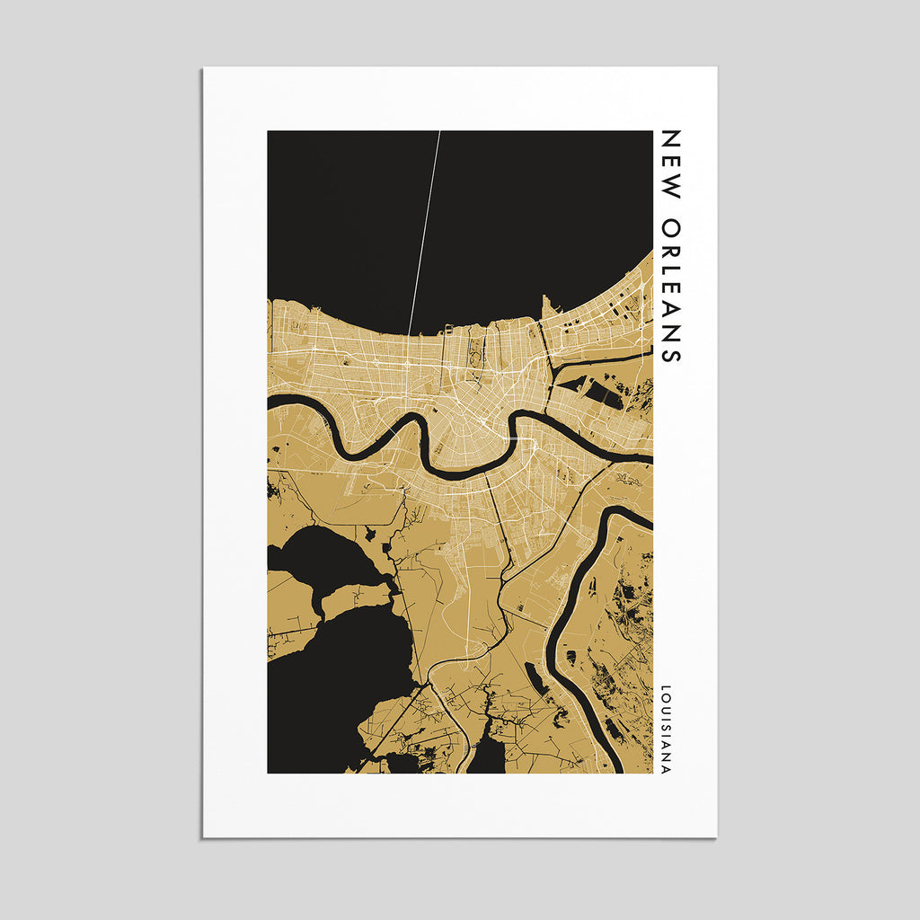 New Orleans, Louisiana _ City Map Print - Style 2