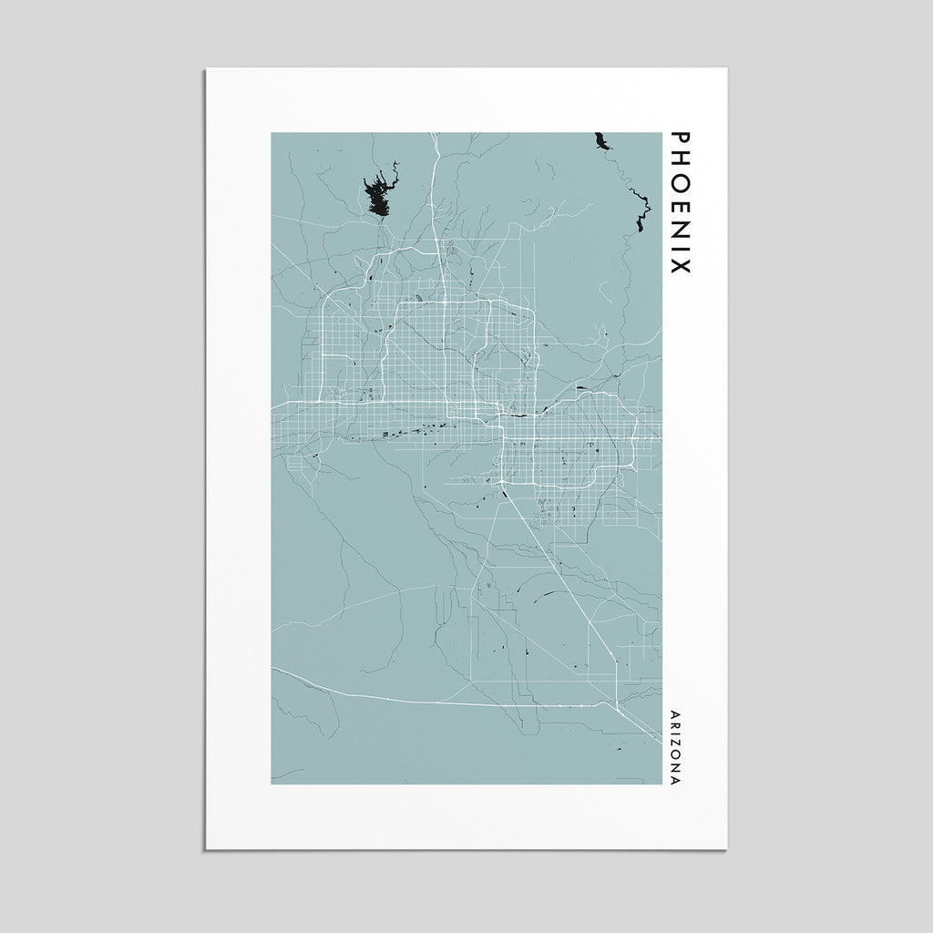 Phoenix, Arizona _ City Map Print - Style 2