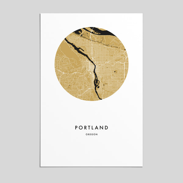 Portland, Oregon _ City Map Print