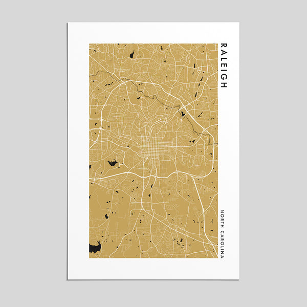 Raleigh, North Carolina _ City Map Print - Style 2