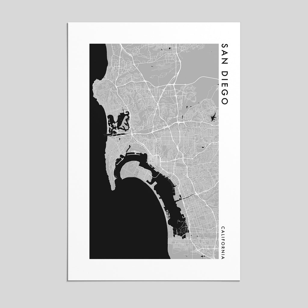 San Diego, California _ City Map Print - Style 2