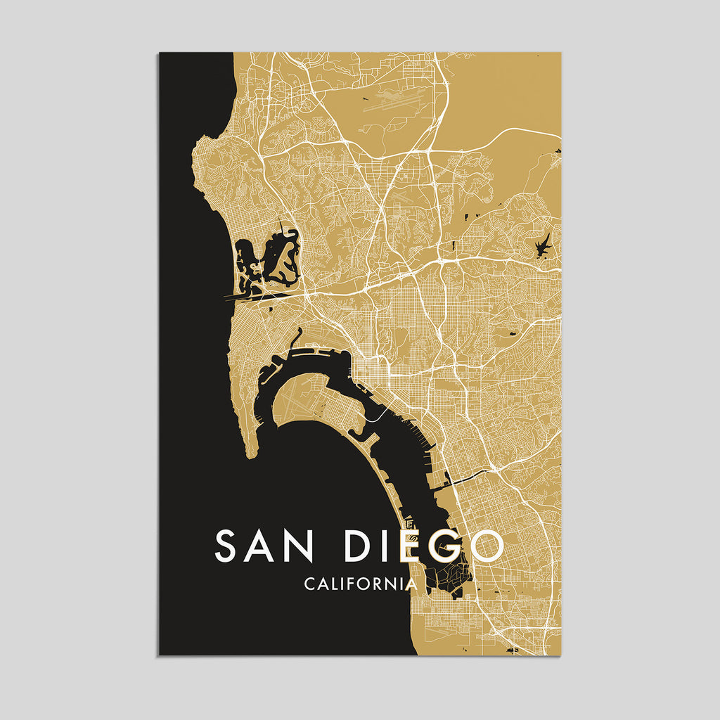 San Diego, California _ City Map Print - Style 3