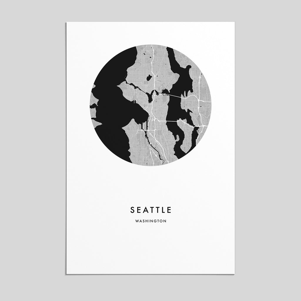 Seattle, Washington _ City Map Print